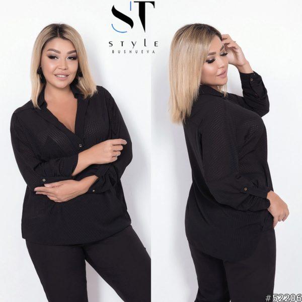 блуза черная женская 48+