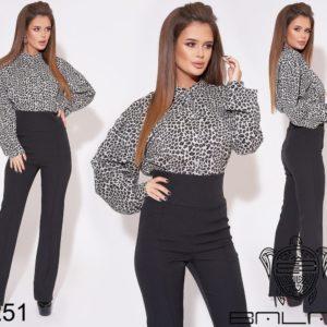 брюки черные с высокой талией женские