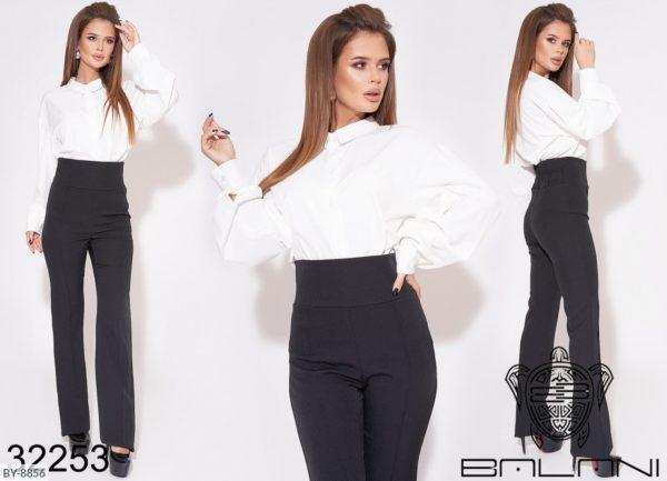 брюки с высокой талией женские