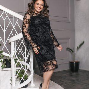 черное праздничное платье