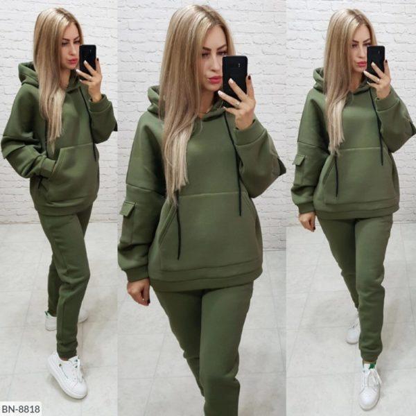 кофта женская с брюками зеленая