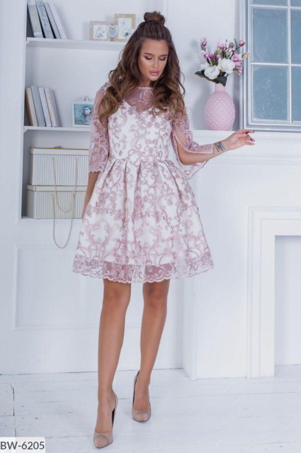 Нежное вечернее платье 46 размера