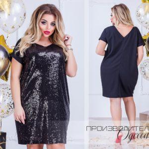 Новогоднее платье с паетками