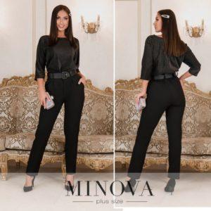 Очаровательный черный женский костюм