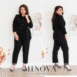 Пиджак с брюками черный женский