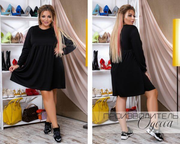платье черное с рукавами больших размеров