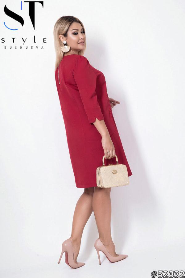 платье миди 48+