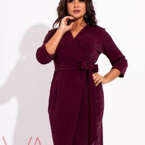 платье с люрексом на большие размеры