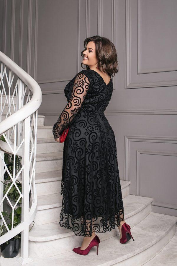 платье с прозрачными рукавами 56 размер