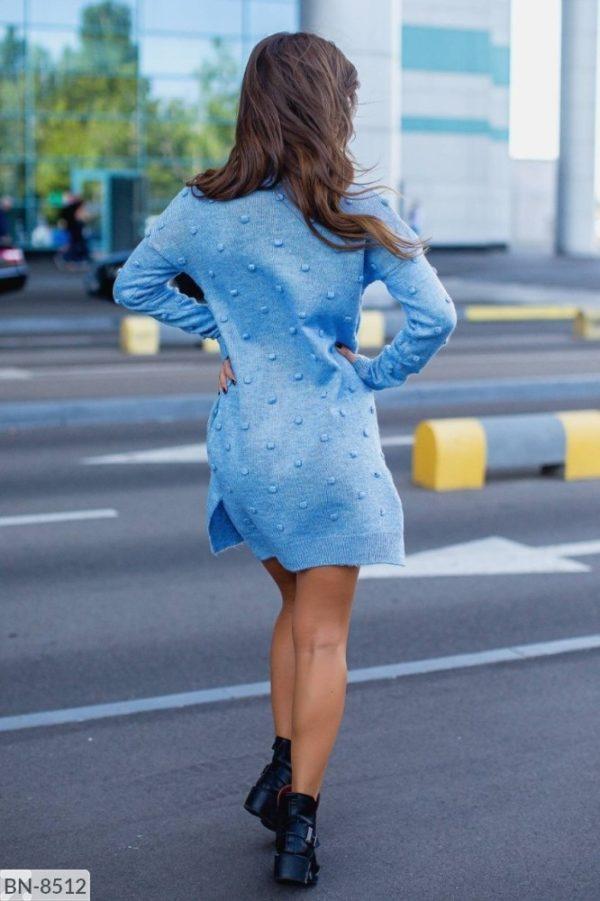 платье теплое синие