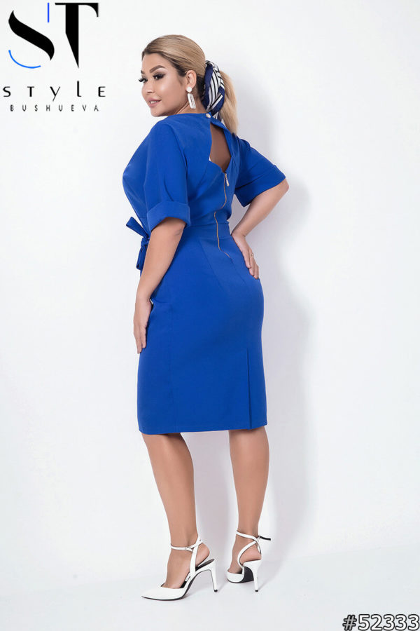 синее платье для полных женщин 48+