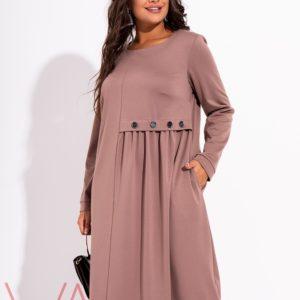 стильное платье миди 50 размер