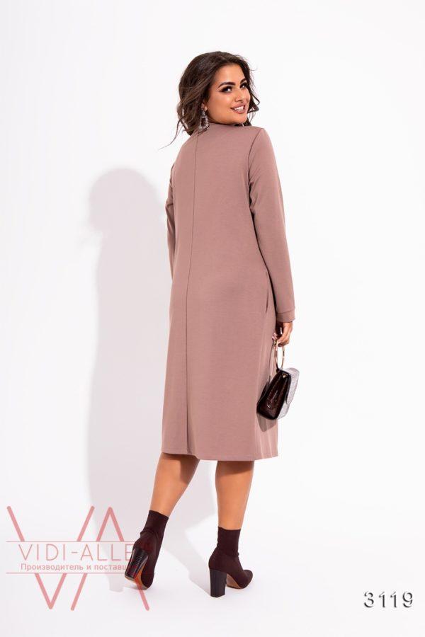стильное платье миди до колена