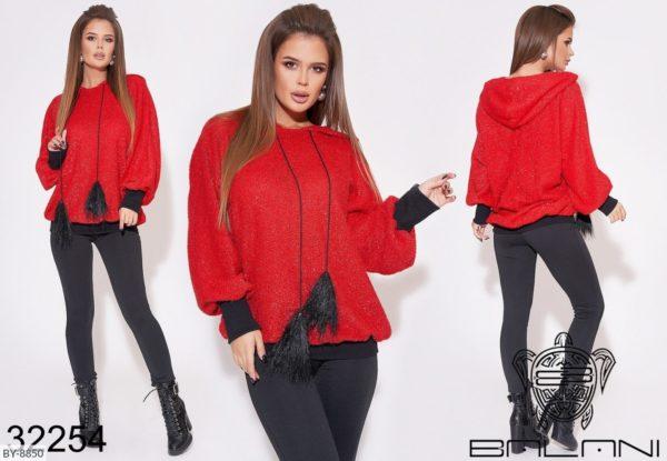 Стильный костюм женский красный