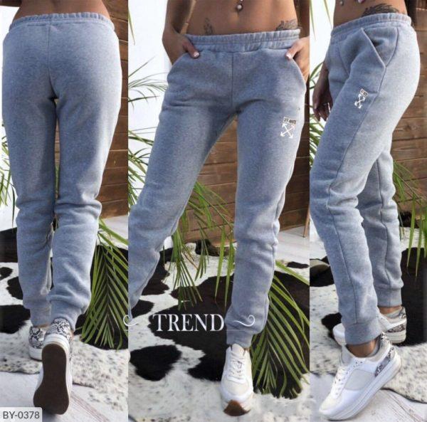 теплые серые брюки женские