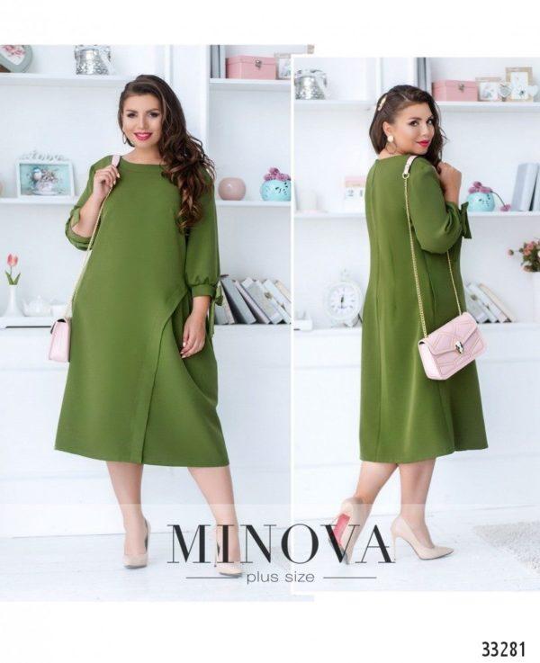 Зеленое платье свободное