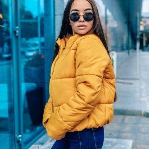 желтая куртка модная женская