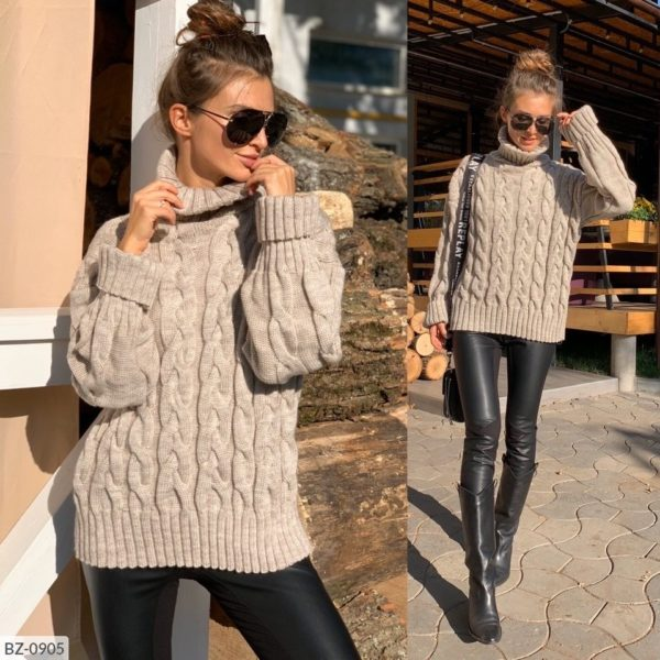 женский свитер бежевый