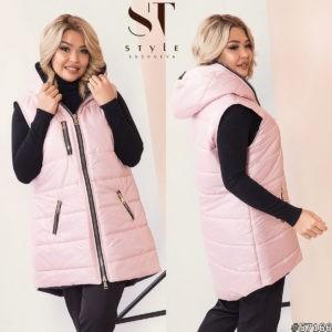 Розовая жилетка для женщин