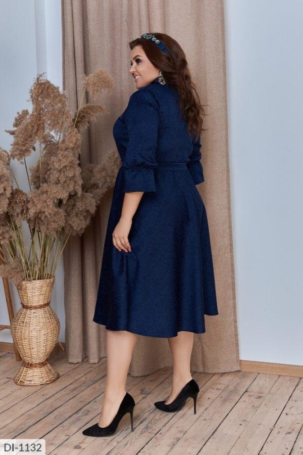 Синие платье миди больших размеров
