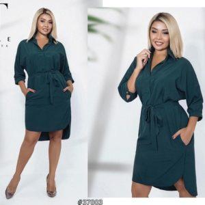 Стильное платье рубашка с поясом