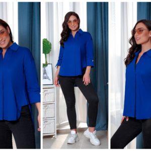 """""""Женская блузка-рубашка синего цвета"""""""